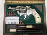 Colt Factory Engraved and Cased Pocket Positive, 32 Colt