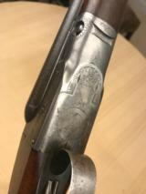 """Parker Gh 16ga on a 0 frame 28"""" Damascus with condition - 3 of 13"""