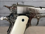 Magnificent Colt Commercial 1911 -- 1917 -- Bertram Edmonston IV Engraved