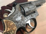 FABULOUS 1960 ENGRAVED SMITH AND WESSON MODEL 15 38 S&W SPECIAL