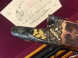 ah fox de special 28ga richard roy engraved with case
