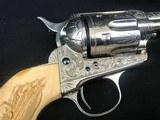 engraved colt saa 41 long colt 4 1/2 barrel