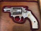 ENGRAVED SMITH WESSON MODEL 60 -- BEAUTIFUL SAMBAR STAG GRIPS -- .38 SPECIAL