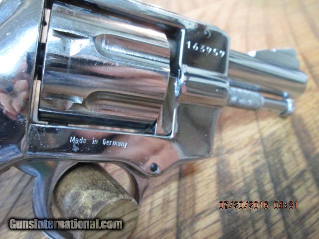 ARMINIUS HW3 OMEGA GERMAN MADE 7 SHOT 32 S&W LONG REVOLVER,CHROME