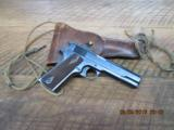 COLT 1911 COMMERICAL (1917 MFG.)45AVCP ALL CORRECT AND IN 96 TO 97 % ORIGINAL CONDITION W/HOLSTER.