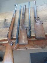 winchester model 52 parts barreled action, stocks AND BOLT