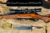 WINCHESTER CUSTOM PRE-64 MODEL 70 30-06 by H.L.GRISEL GUNMAKER 1981