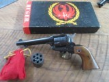 RUGER SINGLE SIX REVOLVER 3 SCREW CONVERTIBLE IN BOX.