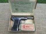 SAVAGE MODEL 1907 .32ACP ALL ORIGINAL 98% IN BOX RARE