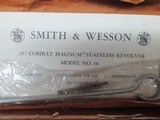 SMITH & WESSON MODEL 66-1 COMBAT MAGNUM 4 INCH STAINLESS - 11 of 13