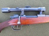 MAUSER OBERNDORF TYPE B 7X57 INTERMEDIATE COMMERCIAL ACTION SCOPED WITH CLAW MOUNTS
