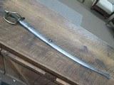 1840 WRIST BREAKER SWORD. SUPERB ORIGINAL CONDITION WITH SCABBARD.