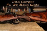 Mauser Commercial Sporter by Otto Geyger