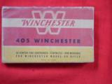 ORIGINAL BOX OF 405cal WINCHESTER CARTRIDGES - 2 of 2