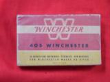 ORIGINAL BOX OF 405cal WINCHESTER CARTRIDGES - 1 of 2
