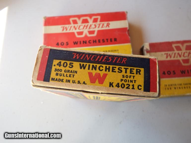 Lot of 405 Winchester Ammo, Cases, Primed Brass and Loaded