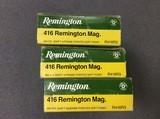 416 Remington Mag. Factory ammunition. - 1 of 1