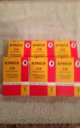 Six (five rounds each) boxes of Kynock .318 WR Accelerated Express ammo