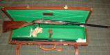 Cased 20 GA Grulla Armas Royal Grade Sidelock Ejector Shotgun Two Barrel Set - 1 of 12