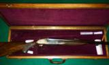 Aug. Lebeau Courally .375 H&H Sidelock Ejector Double Rifle Janssen Engraved With Case 375 HH