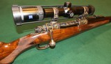 Waffen Jung .416 Rigby Engraved and Case-Hardened Mauser Double Square Bridge Dangerous Game Bolt Action Rifle With New Zeiss Victory HT Scope