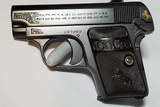 Colt 1908 Vest Pocket Pistol Engraved with Gold Inlay Made in 1919 - 1 of 15