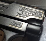 Colt 1908 Vest Pocket Pistol Engraved with Gold Inlay Made in 1919 - 3 of 15