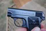 Colt 1908 Vest Pocket Pistol Engraved with Gold Inlay Made in 1919 - 10 of 15