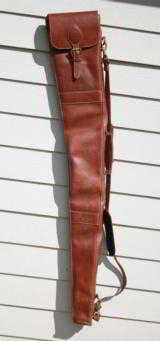 Mulholland Brothers Leather Full Length Shotgun Case - NICE!