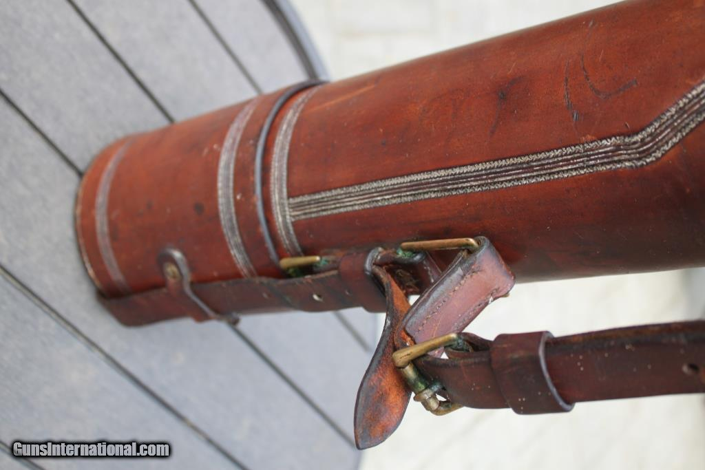 H h heiser vintage tooled leather fly fishing rod case for Used fly fishing gear for sale