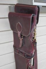 Holland Sport Leather Two Gun Shotgun Case