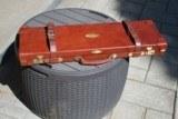 Huey Small Bore Oak and Leather Shotgun Case - NICE!