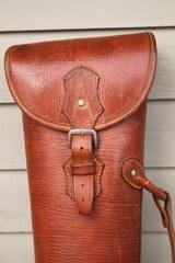 Leather Full Length Two Gun English Style Shotgun Case - 11 of 20