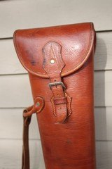 Leather Full Length Two Gun English Style Shotgun Case