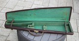 Vintage English Leather Coffin Style Shotgun Case - BOSS
