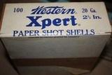 Western Xpert 20ga 100 count Two Piece Shotgun Shell Box - SEALED! - 8 of 8