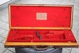 James Woodward & Sons Oak and Leather Shotgun Case - NICE!!