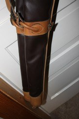 Leather Full Length Two Gun English Style Shotgun Cases - 14 of 18