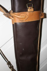 Leather Full Length Two Gun English Style Shotgun Cases - 13 of 18