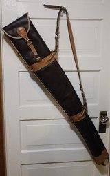 Leather Full Length Two Gun English Style Shotgun Cases - 2 of 18