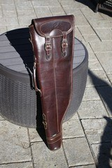 Spanish Leather Shotgun Case by F Exposito -