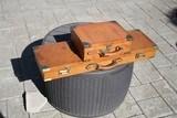 German Leather Shotgun Case and Cartridge Case Set