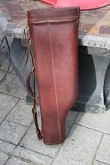 """Vintage Leather Two Barrel Shotgun Case for 28"""""""
