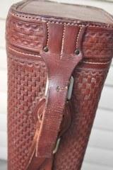 H.H Heiser Fully Tooled Leather Shotgun Case - NICE!