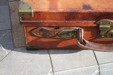 Large Oak & Leather Shell Case by John Dickson & Son - NICE! - 3 of 16