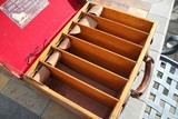 Large Oak & Leather Shell Case by John Dickson & Son - NICE! - 14 of 16