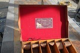 Large Oak & Leather Shell Case by John Dickson & Son - NICE! - 15 of 16