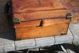 Large Oak & Leather Shell Case by John Dickson & Son - NICE! - 5 of 16