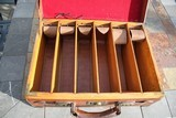 Large Oak & Leather Shell Case by John Dickson & Son - NICE! - 13 of 16