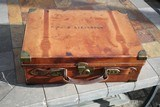 Large Oak & Leather Shell Case by John Dickson & Son - NICE! - 2 of 16